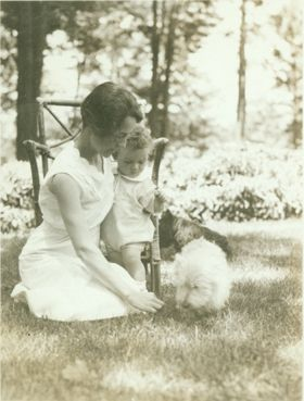 Anne Morrow Lindbergh and son Charles, May 27, 1931