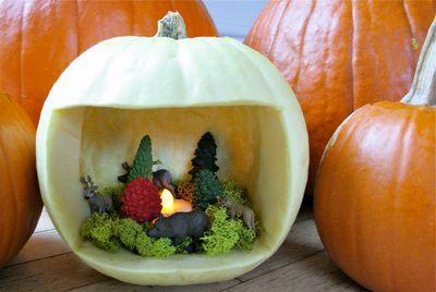 Pumpkin dioramas