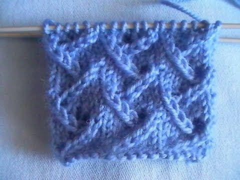 Вязание спицами узора Елочка для начинающих | Видео мастер классы
