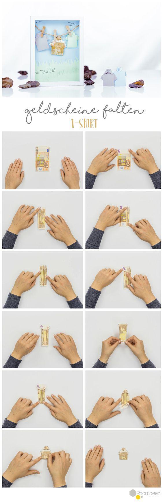 Geldscheine falten » 10 Anleitungen für Geldgeschenke