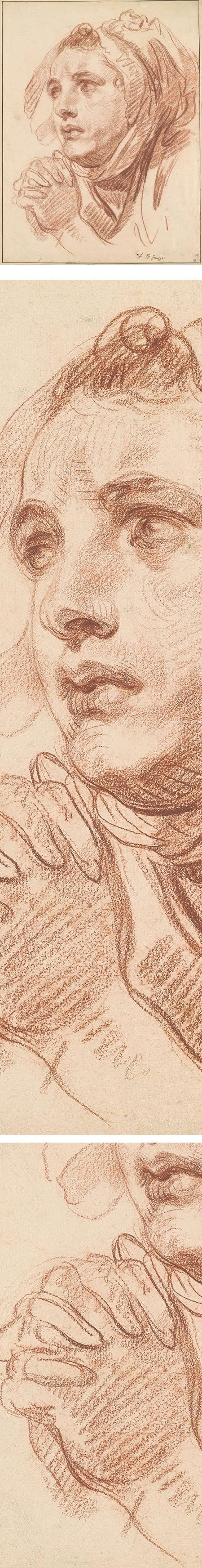 Eye Candy for Today: Jean-Baptiste Greuze chalk drawing