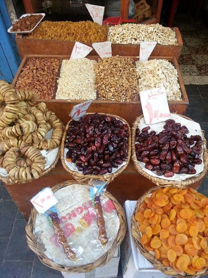 Dates and dry figs in Tripoli market