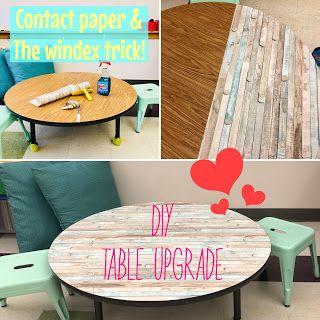 Make ugly classroom table cute: Farmhouse Classroom