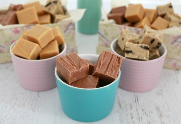 3 delicious and simple Thermomix Fudge recipes - Salted Caramel, Chocolate and Cookies & Cream! These make the perfect DIY gift or yummy treat!