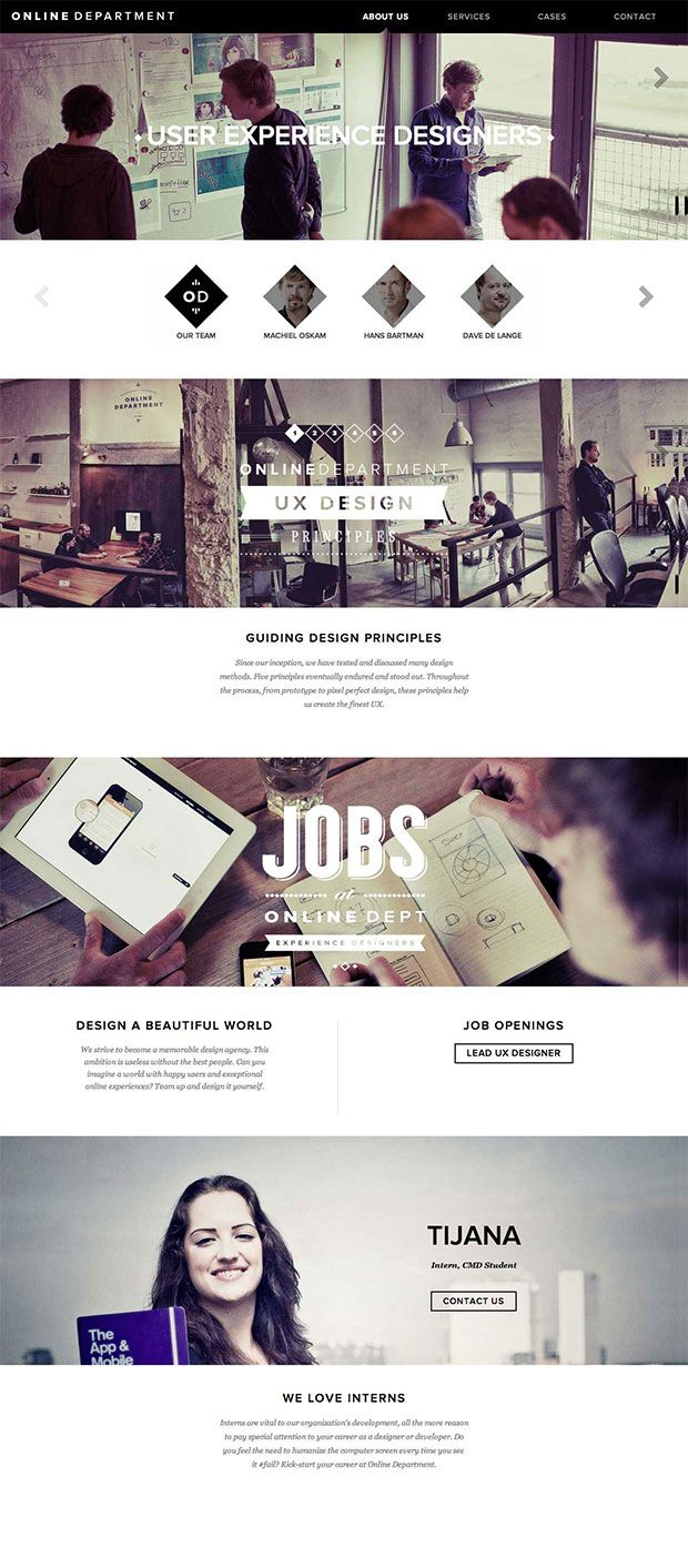 Online Department about page http://onlinedepartment.nl/about-us/#ourteam