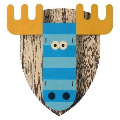 Modern Moose Wall Decor - Blue Moose - Kid's room - 3D art- Featured Artist @ Target