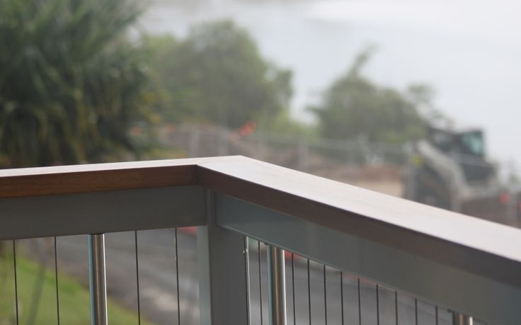 Aluminium Cable Balustrade with Timber Finish
