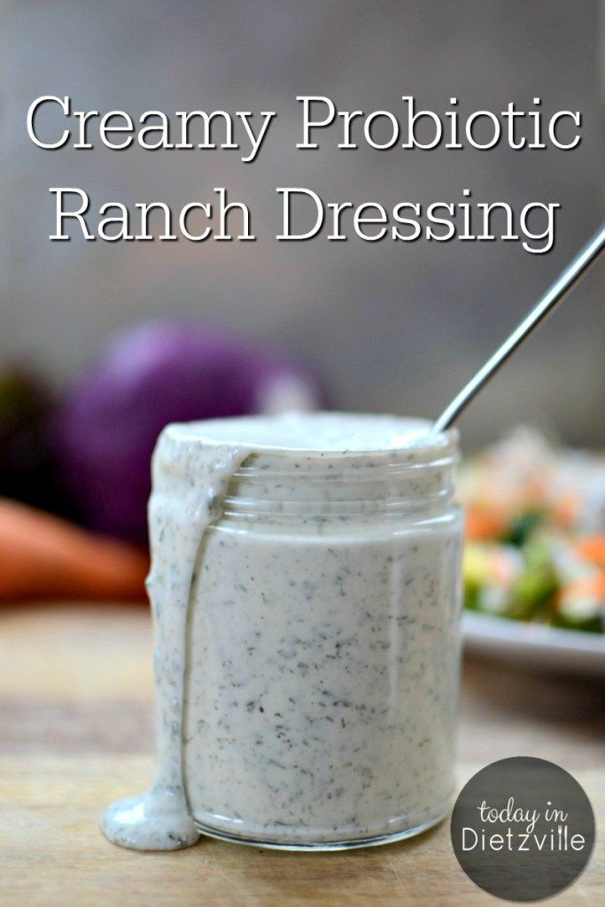 Creamy Probiotic Ranch Dressing | Do you have some plain yogurt in your fridge and a few herbs and spices in your pantry? If so, you have everything you need to make a quick probiotic ranch dressing! You'll throw the packets of ranch dressing mix in the t
