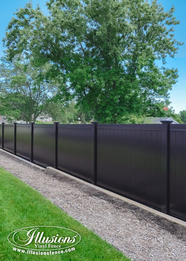 Black Fence Idea From Illusions Vinyl Fence Pvc Vinyl
