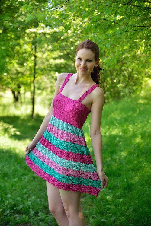 Háčkované šaty Honeymoon - 36/38
