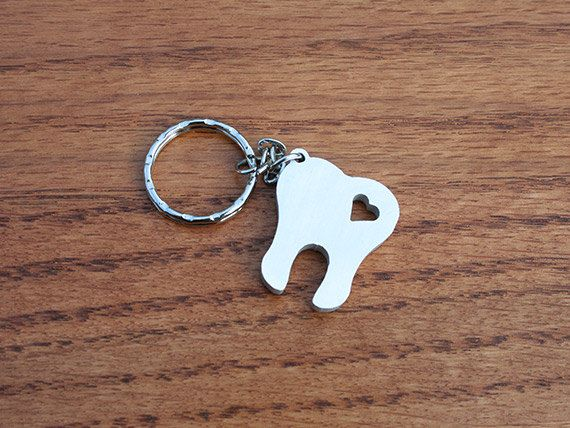 Sweet Tooth  Metal Keychain by theDuoStudio on Etsy, $10.00 -LOVE THIS!!!!