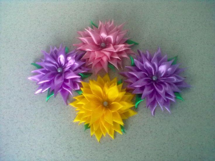 mé kanzashi květiny