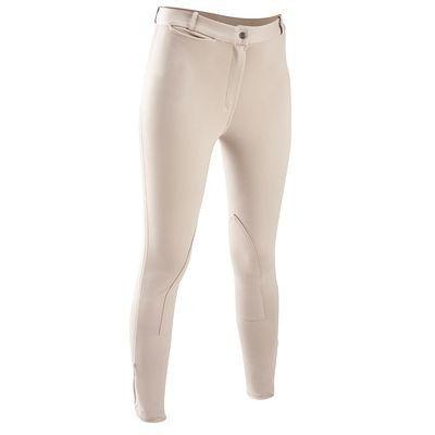 Abbigliamento equitazione Equitazione - Pantaloni equitazione donna Schooling 300 beige FOUGANZA - Abbigliamento cavaliere BEIGE