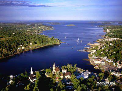 Aerial View of Mahone Bay, Nova Scotia