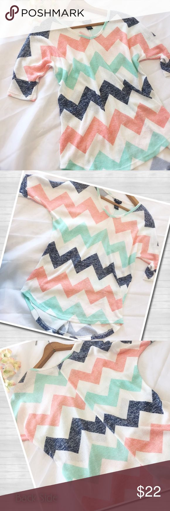 🆕Rue21 | Chevron Top | NWOT Rue21 | Beautiful Chevron top | Mint, Coral, Navy, & White. 65% Polyester | 33% Rayon | 2% Spandex. Size Medium. NWOT. Never worn. Perfect for office attire or casual wear! Dress up or down•very versatile!! Reasonable offers considered; please be respectful. 🚫trades/offline transactions. 🛍Bundles encouraged & discounted•10% off 3+ items. Thank you!!☺️ Rue21 Tops