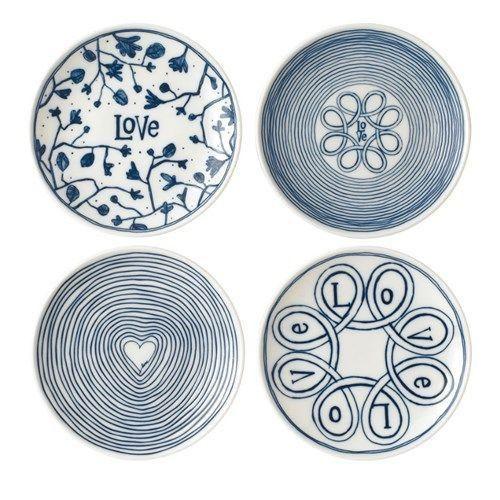 ED Ellen DeGeneres Crafted by Royal Doulton - Plate 16cm Blue Love Set of 4