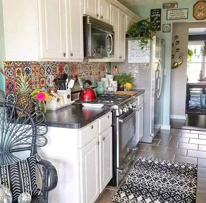 Teppich Ankleidezimmer In 2020 Boho Style Kitchen Boho Kitchen Decor Bohemian Style Kitchen