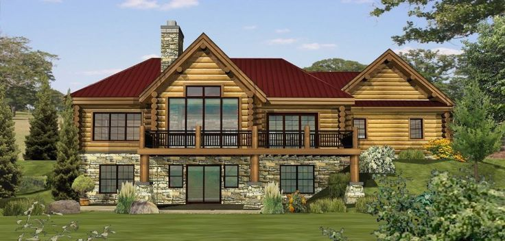 Twin Lakes - Log Homes, Cabins and Log Home Floor Plans - Wisconsin Log Homes