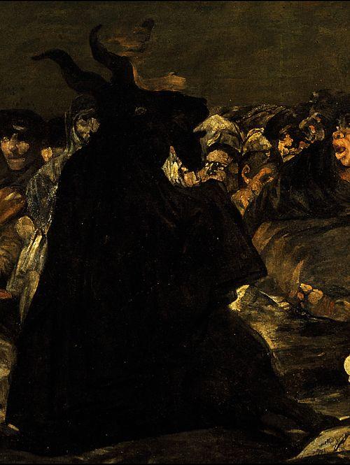 """Francisco de Goya - """"Aquellarre"""" (1821-1823)."""