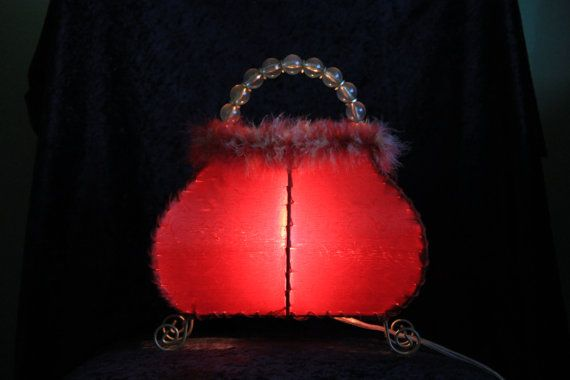Vintage Red Purse Lamp Vintage Etsy And Red