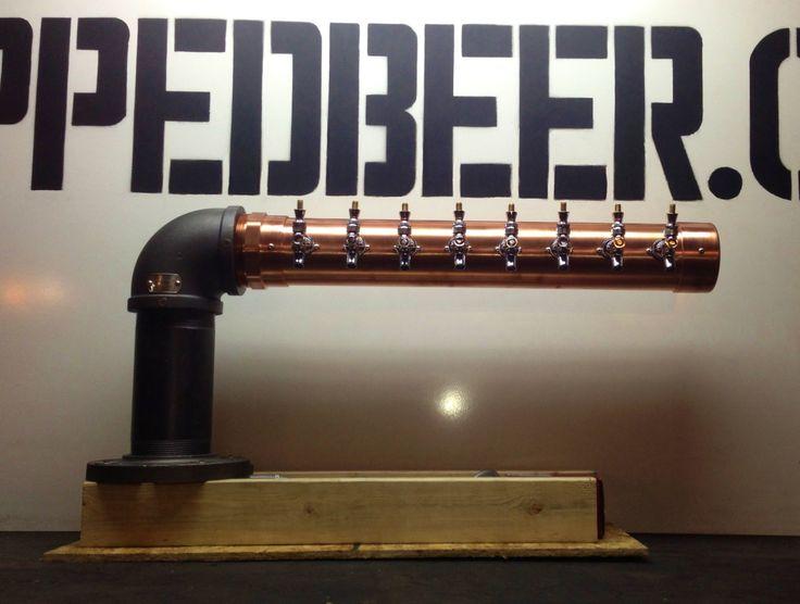 Aangepaste L vormige koper & ijzer bier toren 8 door TappedBeer