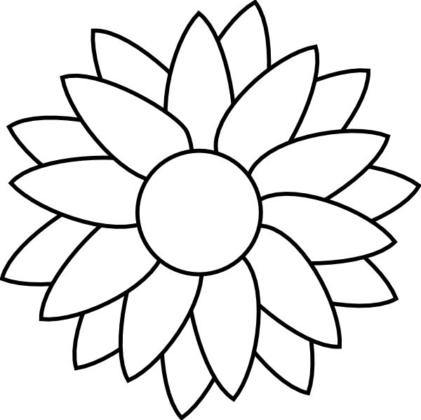 flower Free Rhinestone Template Downloads | Sun Flower Template clip art