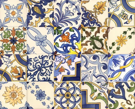 Camil patchwork azulejos ceramica portoghese for Piastrelle patchwork