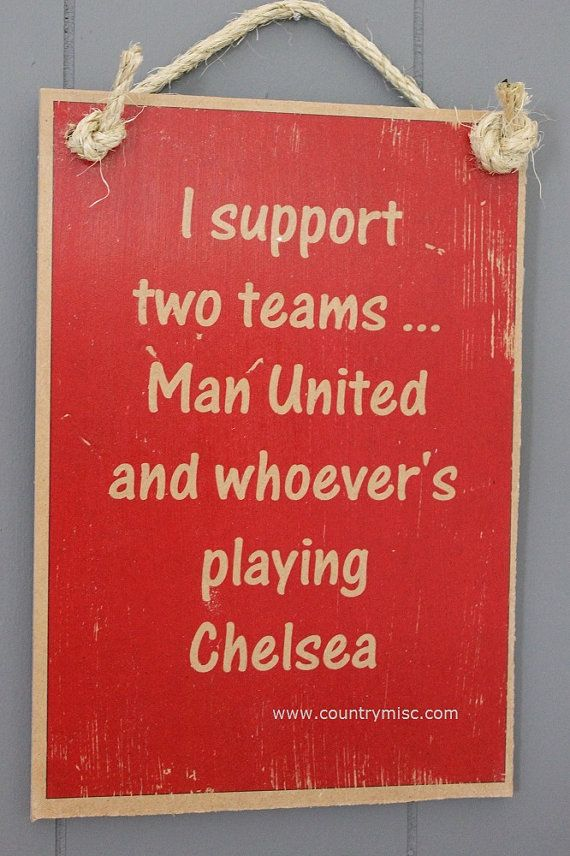 Manchester United Sign  I support Man United and by SaucySigns, $14.95