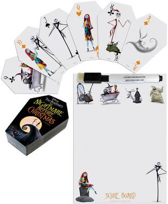 Coffin-Shaped Nightmare Before Christmas Playing Cards