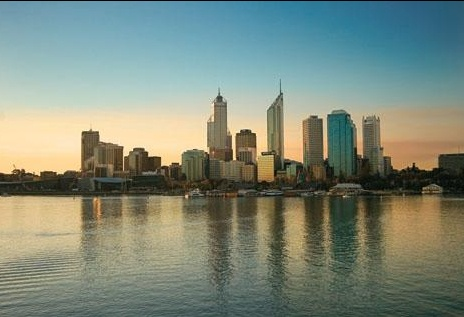 City of Perth, on the Swan River. Western Australia
