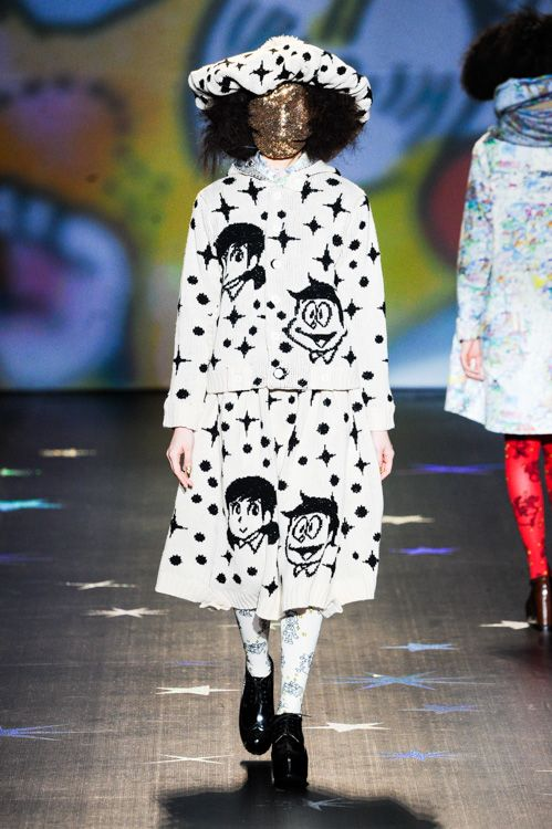 Ne-net — With a hodgepodge of cartoon prints, schoolgirl dresses, and terrifying, Sideshow-Bob-backcombed hair, Ne-net is like a childhood dream-turned-nightmare. The brand is backed by Tokyo powerhouse Issey Miyake, so you know it's destined for great things.
