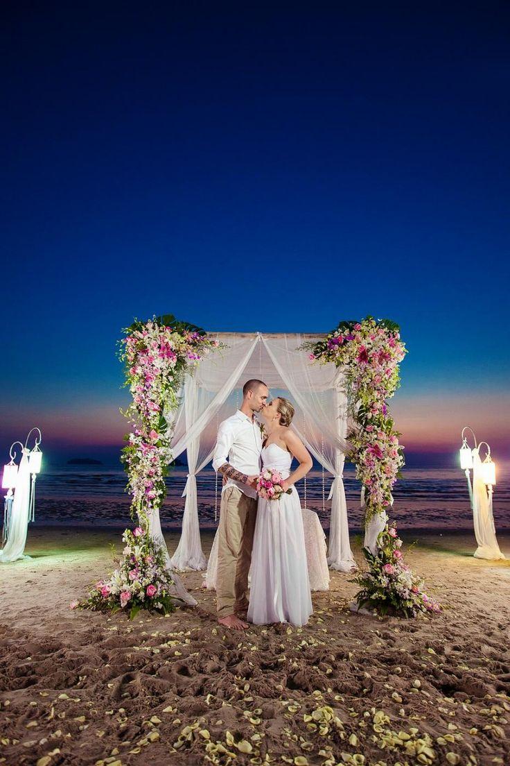small beach wedding ceremony ideas%0A A Small Beach Wedding in Koh Chang