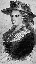 Ann Radcliffe (9 July 1764 – 7 February 1823) was an English author and a pioneer of the Gothic novel. Her style is romantic in its vivid descriptions of landscapes and long travel scenes, yet the Gothic element is obvious through her use of the supernatural. It was her technique of explained Gothicism, the final revelation of inexplicable phenomena, that helped the Gothic novel achieve respectability in the 1790s.