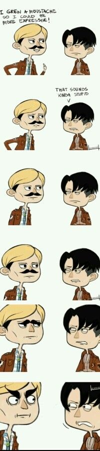 How Erwin got his eyebrows