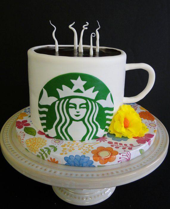 Starbucks Fondant Cake Cake Decoration Pinterest