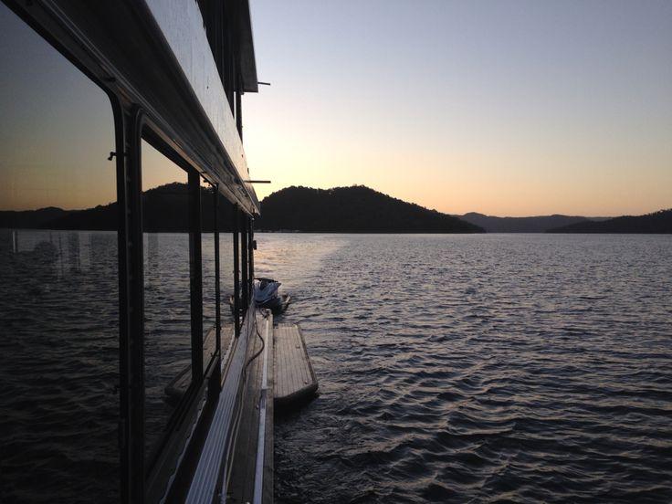 Houseboating at sunset!