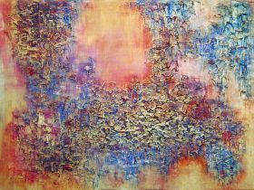 """RICHNESS OF THE EARTH 31.50 x 23.60"""" ABSTRACT ART by VANADA"""