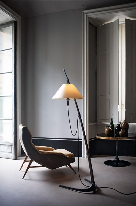 floor lamp, chair