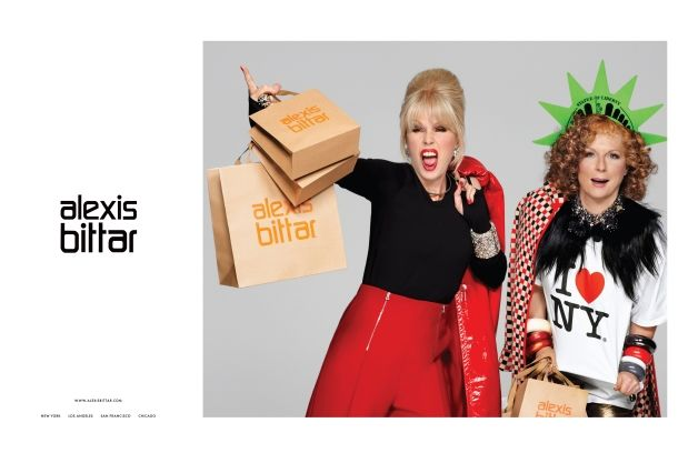 My fave current ad campaign for fave brand Alexis Bittar - who best but Ab Fab's Edina & Patsy!?