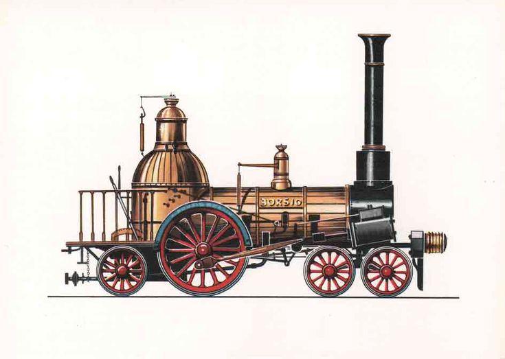 Borsig Lokomotive (1841) Der Berlin-Anhaltischen Eisenbahn wurde diese Lokomotive am 24. Juli 1841 geliefert. Ihr Einsatz erfolgte auf dem Streckenteilstück Berlin-Wittenberg-Köthen. Borsig, die Erbauerfirma dieser Lokomotive, entwickelte sich im Zeitraum einiger Jahrzehnte vom kleinen Handwerksbetrieb zu einem typischen großkapitalistischen Unternehmen