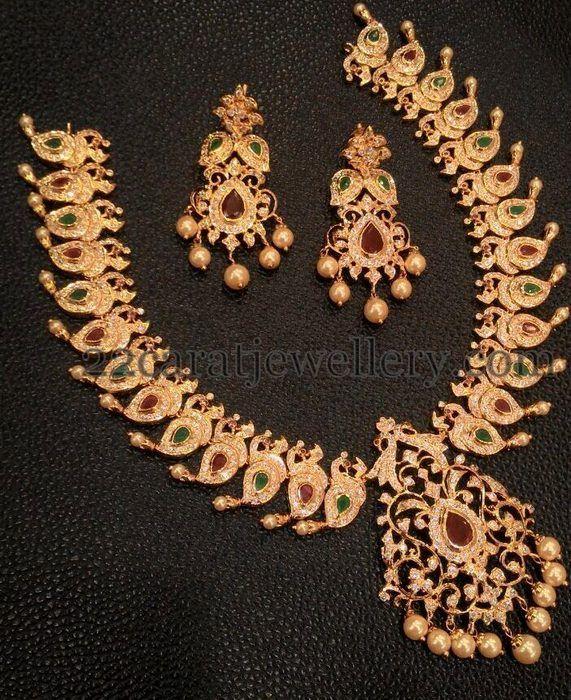 Jewellery Designs Trendy Changeable 1 Gram Gold Jewelry