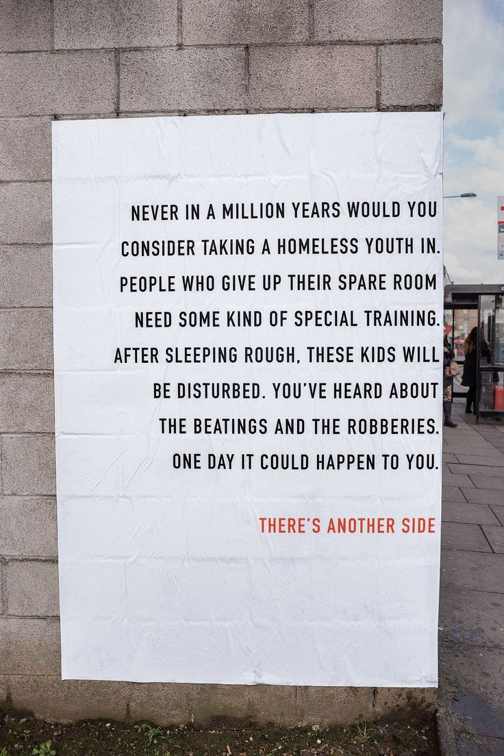 D ad poster design - There S Another Side To The Story Homeless Awareness Outdoor Poster Campaign Award Winning