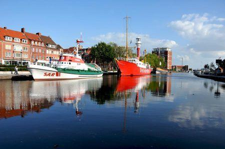 Emden alter Hafen - Emden – Hafenstadt am Dollart