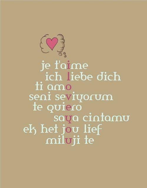 language of i love you