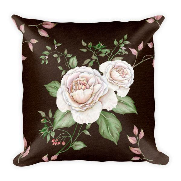 Square Pillow – Rustic Rose     Brighten your living room, with our beautiful throw pillows.    http://classicbeautydesigns.com/product/square-pillow-rustic-rose/
