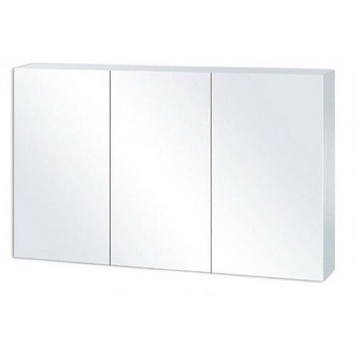 Pencil Edge White Shaving Cabinet with Mirror 1200 X 720 X 150mm | Bathroom Trade Shed