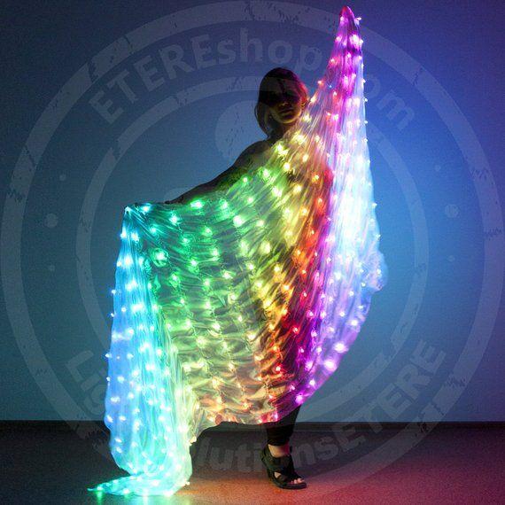 LED Bellydance Wings Pas de Bleu 200 LEDs MIX color /_B02