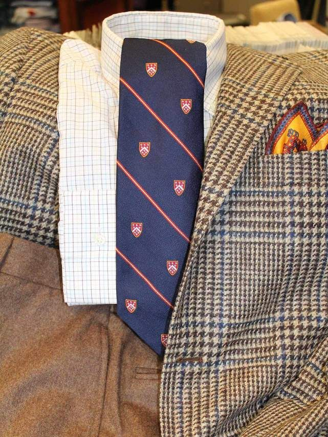 Classic Combo 3  mens Southwick sport coat, New England Shirt Co. shirt, Seaward & Stern tie, pocket square, and Hertling trousers Rush Wilson Limited, Greenville SC