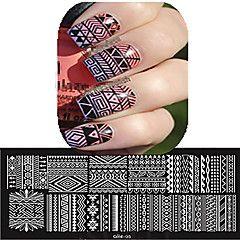 1pcs 12 * 6cm ongles art plaque d'estampage belle fleur d'image colorée outils…