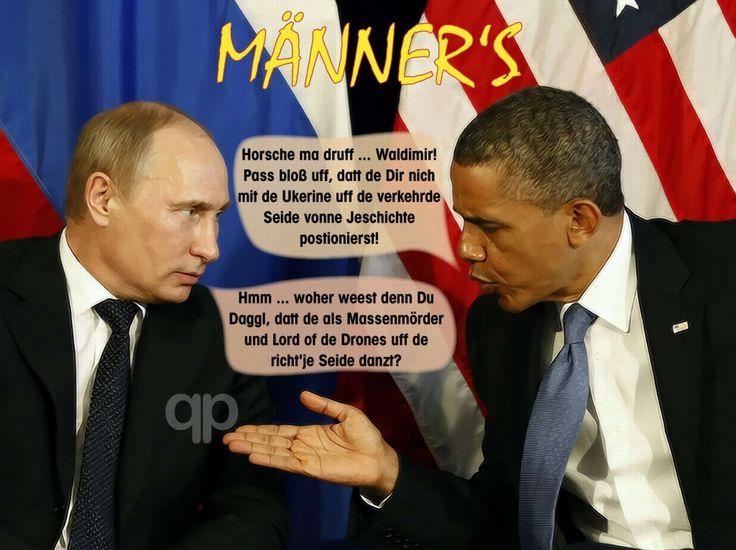 ❌❌❌ Männerfeindschaften sind an sich ja nichts seltenes, aber deren Ende ist immer wieder spannend. Wenn Testosteronbomber aufeinander zufliegen scheppert es meist heftig. Es sei denn einer der Beteiligten ist von Haus aus ein Rohrkrepierer, dann kann die Sache glimpflicher ausgehen. Selbiges erlebten wir gerade mit den letzten Zuckungen des scheidenden Präsidenten der Vereinigten Staaten von Amerika. ❌❌❌ #Männerfeindschaft #Obama #Putin #Diplomatie #USA #Russland #Spielchen #Coolness